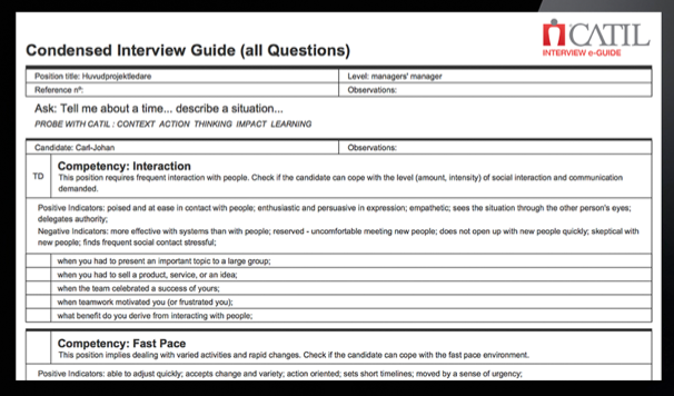 Catil 174 Interview E Guide With Function Catalog 2